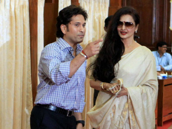 When Rekha gave a slip and miss to BJP leaders