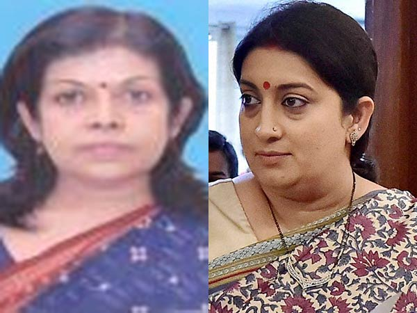 Smriti Irani irked as secy denies paying saree shopping bill worth lakhs