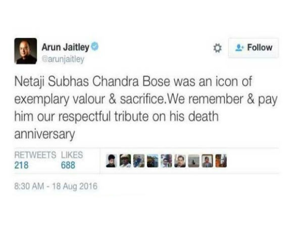 Mamata Banerjee Says 'Shocked And Hurt' By Arun Jaitley's Netaji Tweet