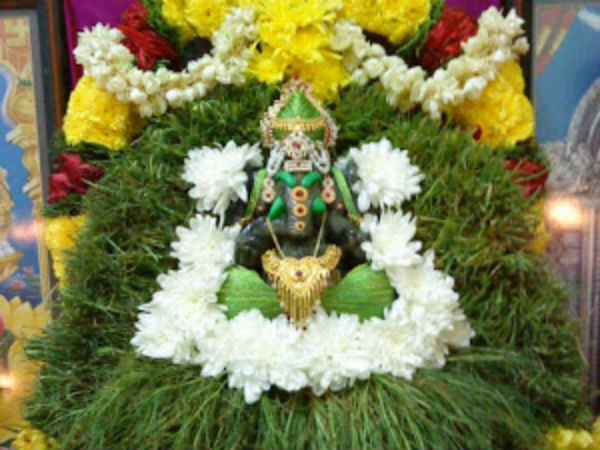 Arugampul is a sacred grass lord GaneshaArugampul is a sacred grass lord Ganesha