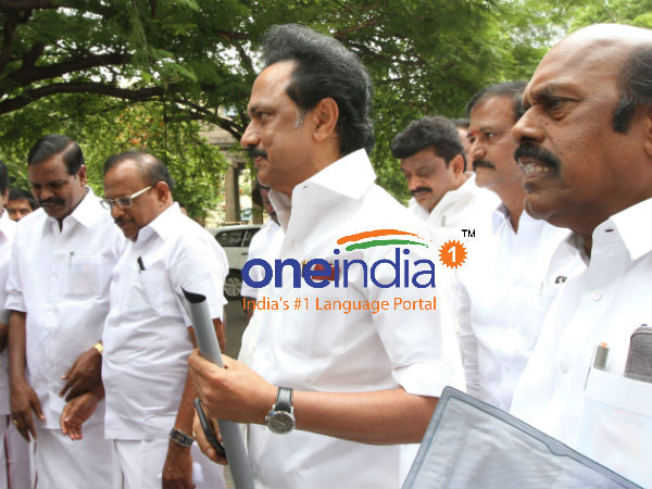 Rail roko : M K Stalin arrested in Chennai Egmore