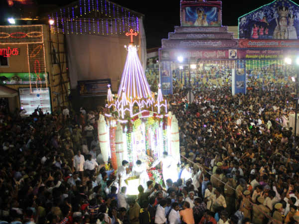 Velankanni Matha Church Ther Thiruvila Car Festival 2016