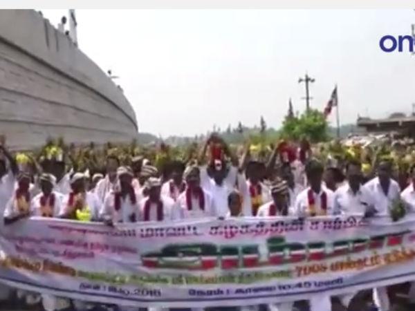 ஜெ. பூரண நலமடைந்து மீண்டும் மக்கள் பணியாற்ற வேண்டும்... கிருஷ்ணகிரியில் 7008 பேர் பால்குடம்- வீடியோ