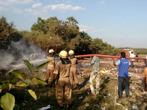 5 killed in fire accident in crackers factory