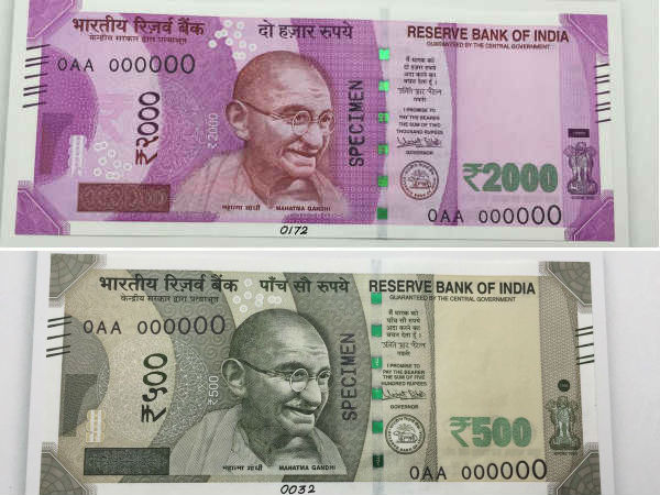 New currency notes from today