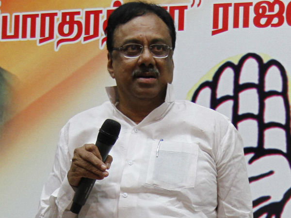 E V K S Elangovan admitted to a private hospital at Coimbatore