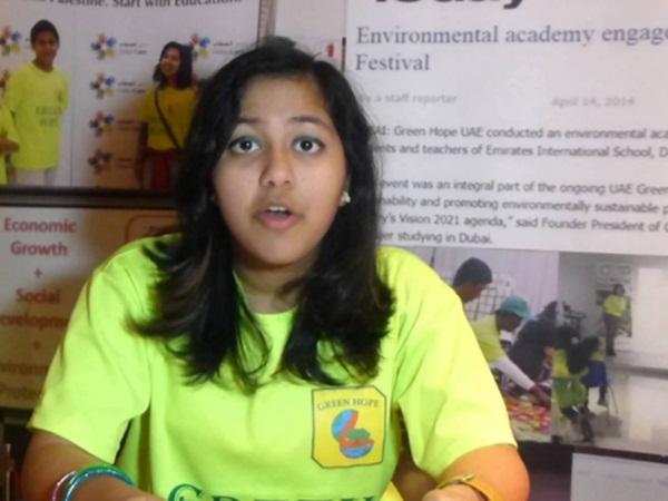 துபாய் வாழ் இந்திய சிறுமிக்கு சர்வதேச குழந்தைகள் அமைதிக்கான விருது