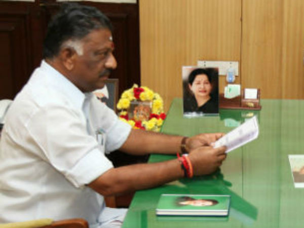 O Panneerselvam took oath his room as a Tamil Nadu CM
