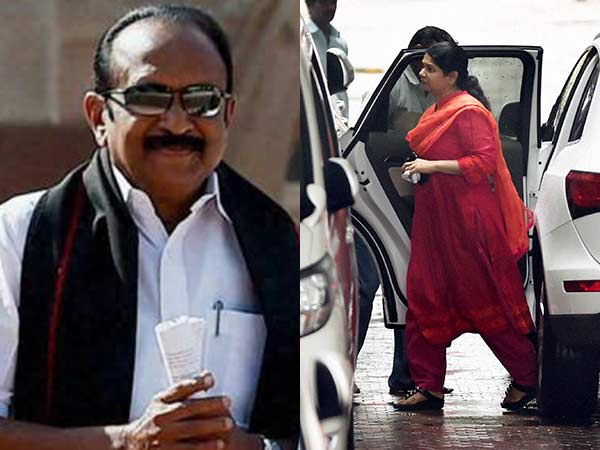 Vaiko enquirs about the health of the Karunanidhi to Kanimozhi