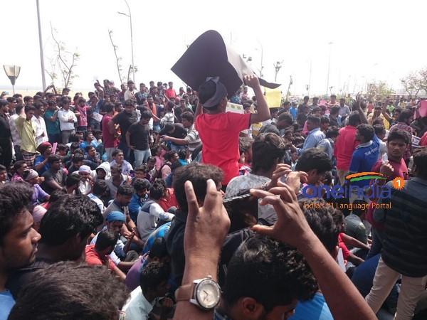 ஜல்லிக்கட்டு : சென்னை, கோவை, மதுரை, அலங்காநல்லூரில் இளைஞர்களின் அனல் போராட்டம் நீடிப்பு