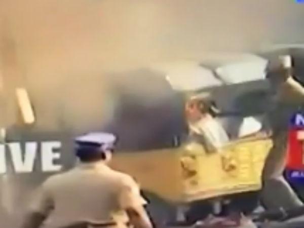 சென்னை கலவரம்: ஆட்டோவிற்கு தீ வைத்து, பைக்கையும் தாக்கியபோலீஸ்...பரபரப்பு ஆதாரம்!