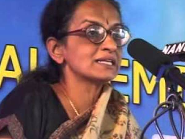Lawyer Nalini files case against Radha Rajan