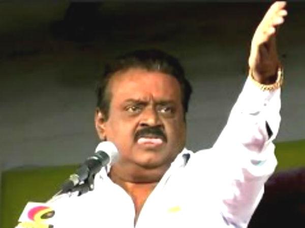 பண்ருட்டியில்  மீண்டும் வேலையை காண்பித்த விஜயகாந்த்! தொண்டருக்கு 'பளார்'!!