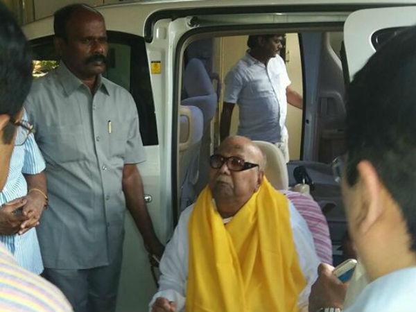 கருணாநிதி உடல்நிலையில் முன்னேற்றம்- திமுகவினர் உற்சாகம்!