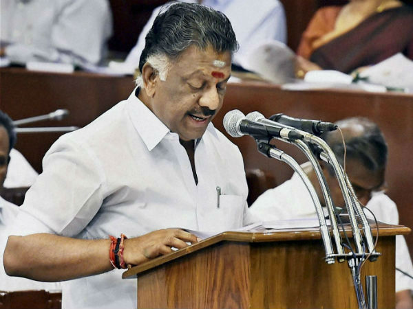 O pannerselvam seat was changed in Assembly