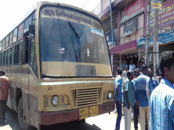 திண்டுக்கல்: பிரேக் பிடிக்காத அரசு பஸ் மோதி செருப்பு தைக்கும் தொழிலாளி பரிதாபமாக பலி