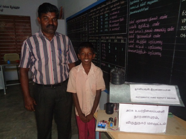 10th student develops fire safety device in sivakasi
