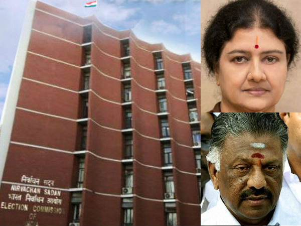 Election commission is ordered to OPS team and Sasikala team to appear on 22nd morning
