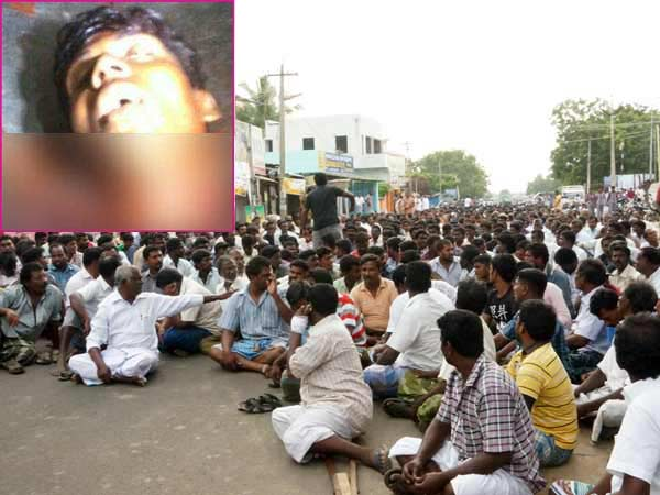 Nagercoil fishermen road blockade near collector office for condemning pritjo's death