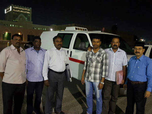 Saminathan who died in Abu Dhabi his body bring to his native place Thanjavur