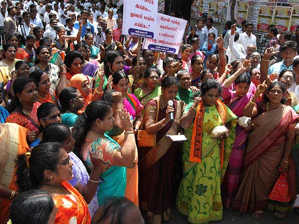 BJP Protest in Chennai to provide Ration products properly