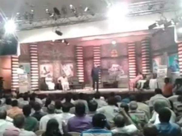 ஆர்கே நகரில் அமைச்சர் விஜயபாஸ்கருக்கு எதிர்ப்பு-தந்தி டிவி நிகழ்ச்சியில் இருந்து விரட்டியடிப்பு!!