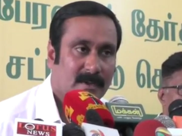 Anbumani condemns Bandh against Actor Sathyaraj