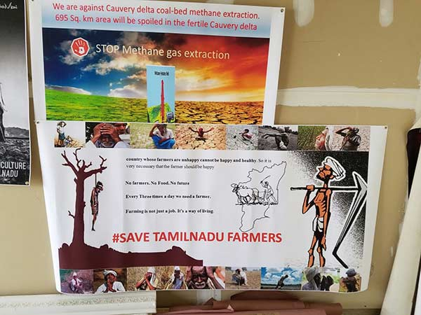 US Tamils protest in support of Tamil Nadu farmers