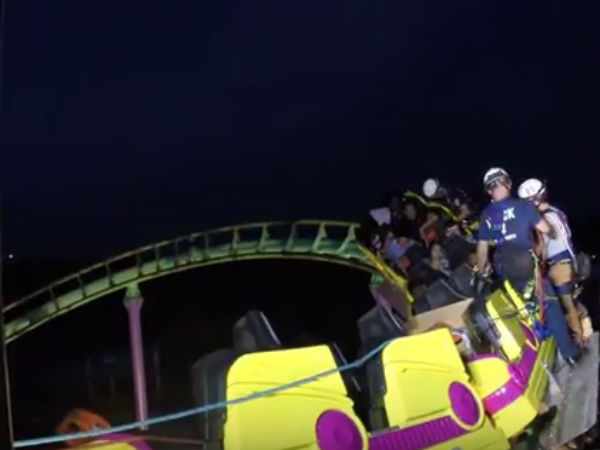 A roller coaster trapped in 100 feet height: 24 were rescued