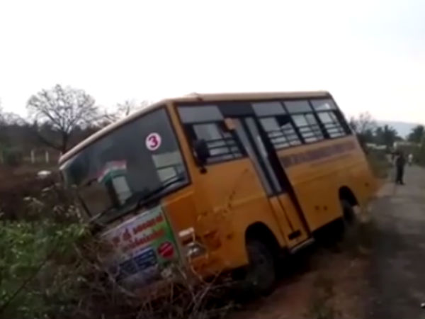 School Bus drver thimbarayan saved children life even he got heart attack