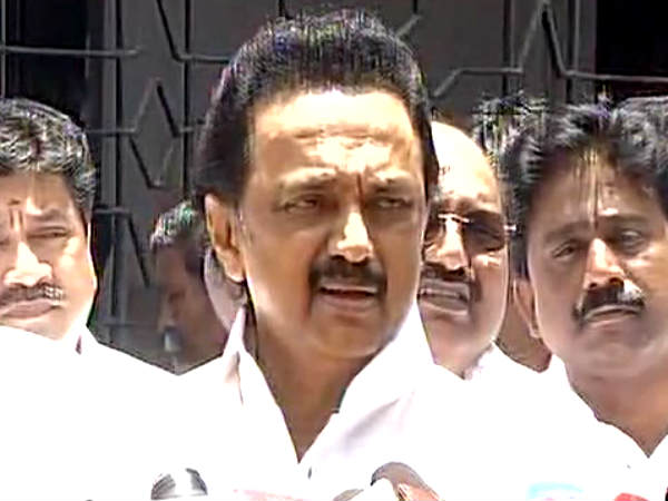 M.K. Stalin saying that tn government is in coma stage
