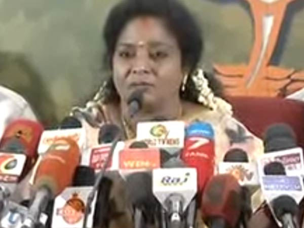Tamilisai talking about minister sellur Raju's Vaigai dam plan