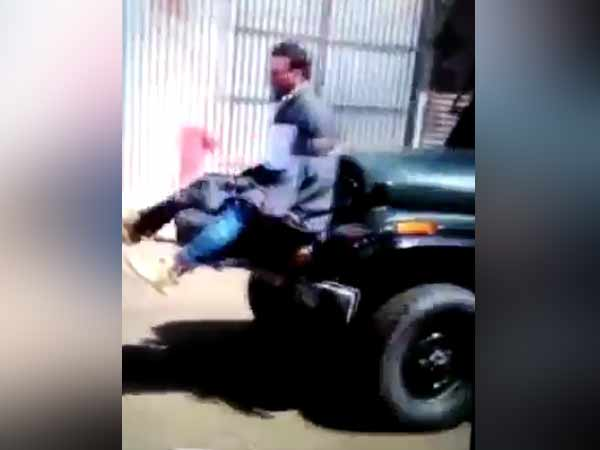 Youth tied to an army jeep in Jammu and Kashmir