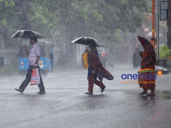 Rain showers in Chennai since Wednesday morning