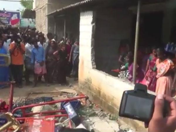 கோத்தகிரி அருகே மதுபான கடை சூறை... 50 பேர் கைது