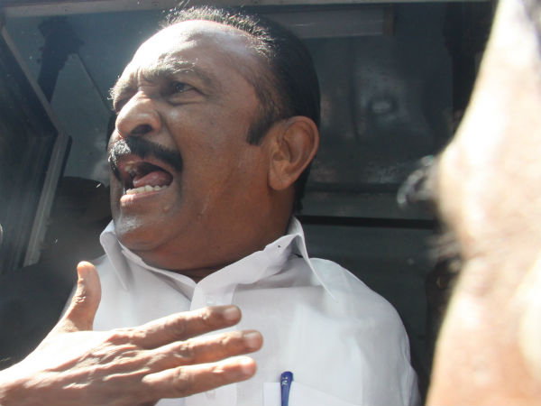 MDMK chief got bail and set free from Puzhal prison