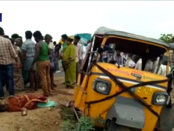 Auto met with an accident near Chittur Andra pradesh