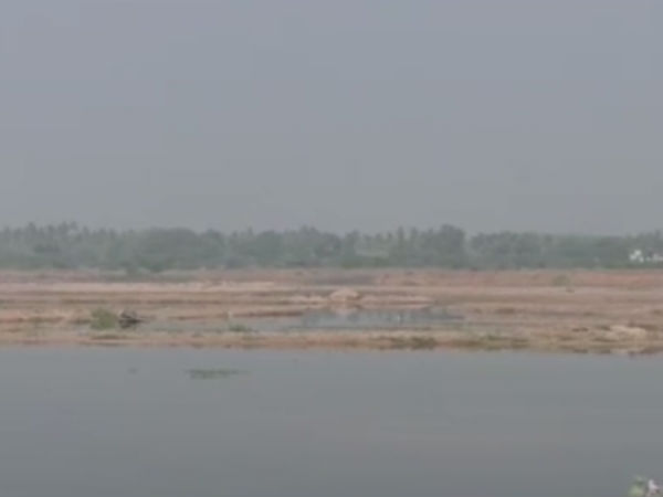 Sand taking in Cauvery river bank in karur