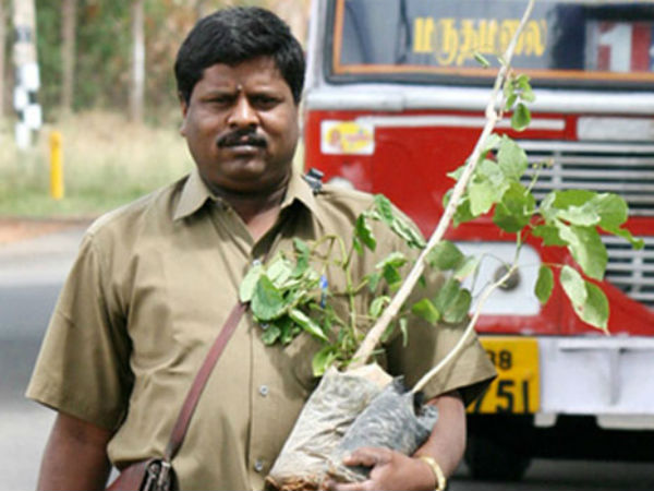 A bus conductor from Coimbatore plants 38,000 trees