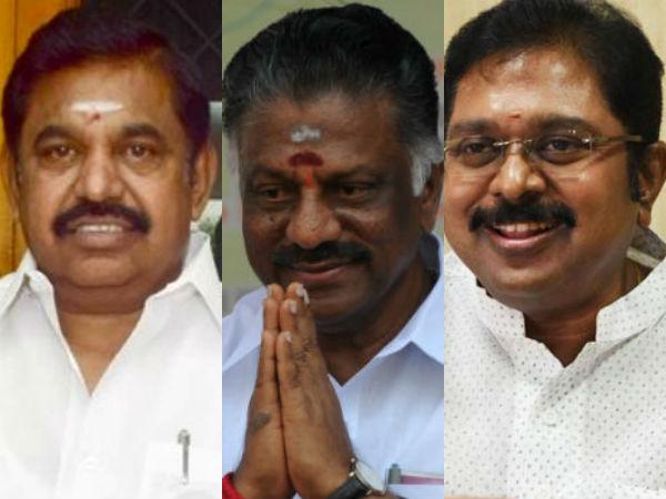 பிடிங்க எங்க ஆதரவு...அதிமுகவின் 3 கோஷ்டியும் போட்டா போட்டி சப்போர்ட்!
