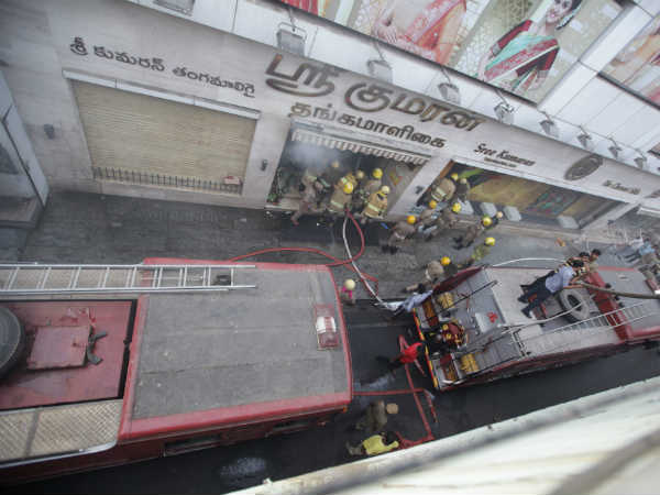 chennai silks: fire engine vehicles are vacating from the spot
