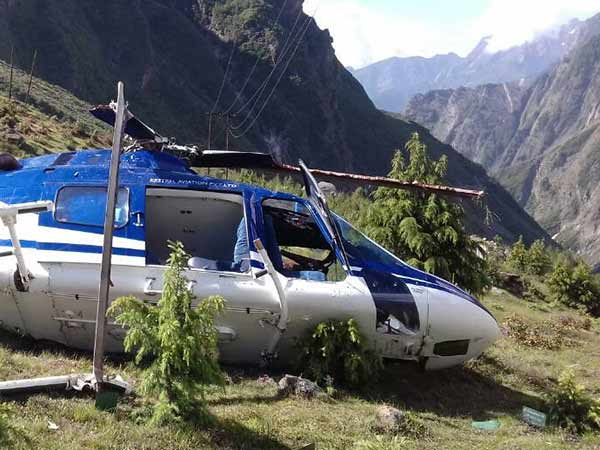 Helicopter carrying pilgrims crash-landed near Badrinath in Uttarakhand