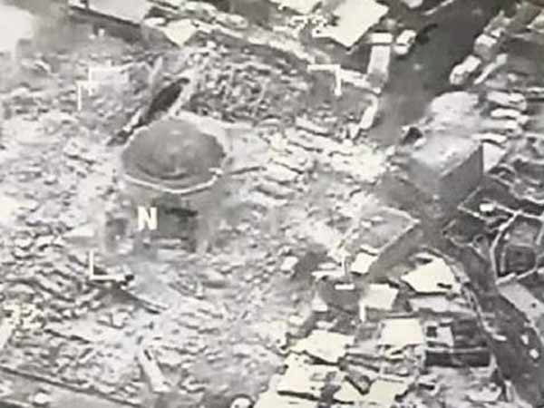 The Great Mosque of al-Nuri was destroyed by ISIS, Iraq accuses