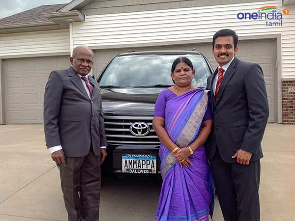 US Tamil youth names car numbr plate after his Parent