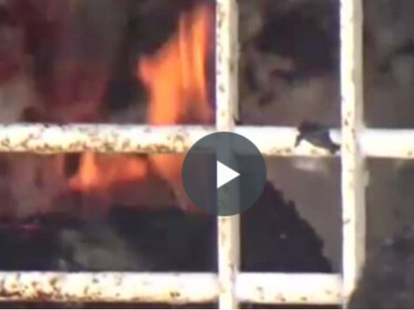 Fire accident in Palayapet cotton godown