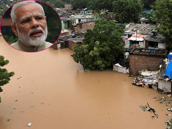 PM Modi takes stock of situation in flood-hit Gujarat