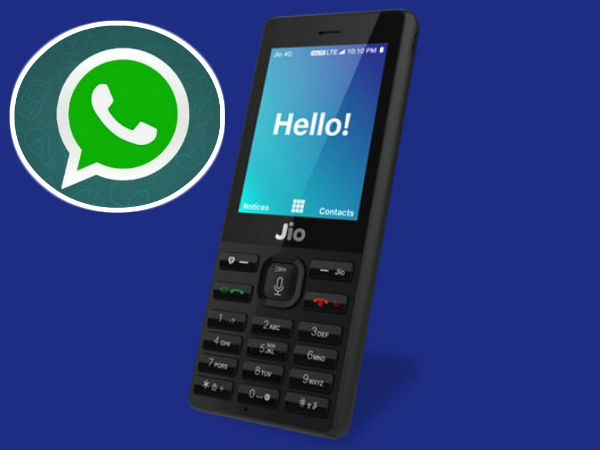 There is no facility to use WhatsApp on Reliance Jio phone