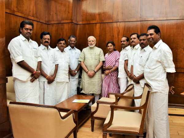 OPS meets PM Narendra Modi in Delhi
