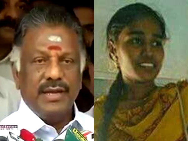 O.Pannerselvam questioned government about Valarmathi arrest