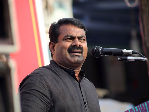 seeman urges tamilnadu government to review remove the Sivaji Ganesan statue from near Marina Beach